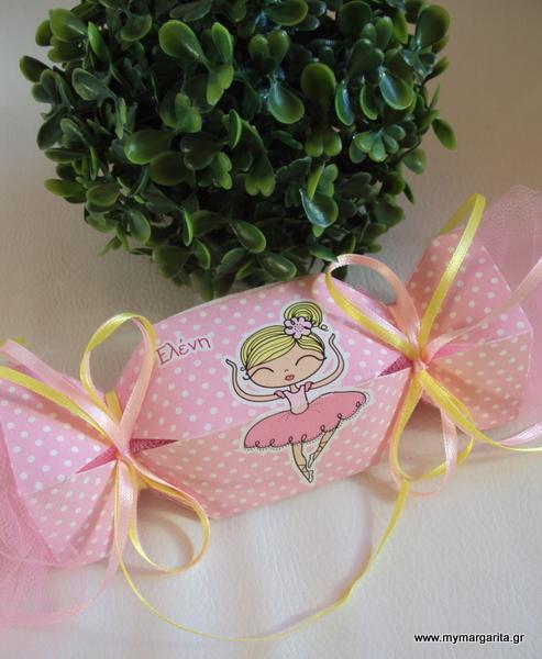 Μπομπονιέρα βάπτισης Canto κουτάκι καραμέλα με μπαλαρίνα